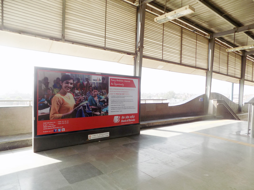 Okhla - Delhi Metro Advertising