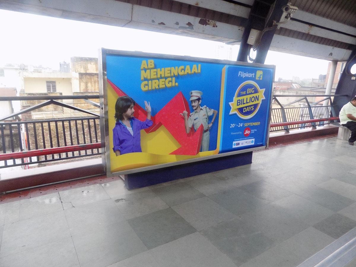 R K Ashram Marg - Delhi Metro Advertising
