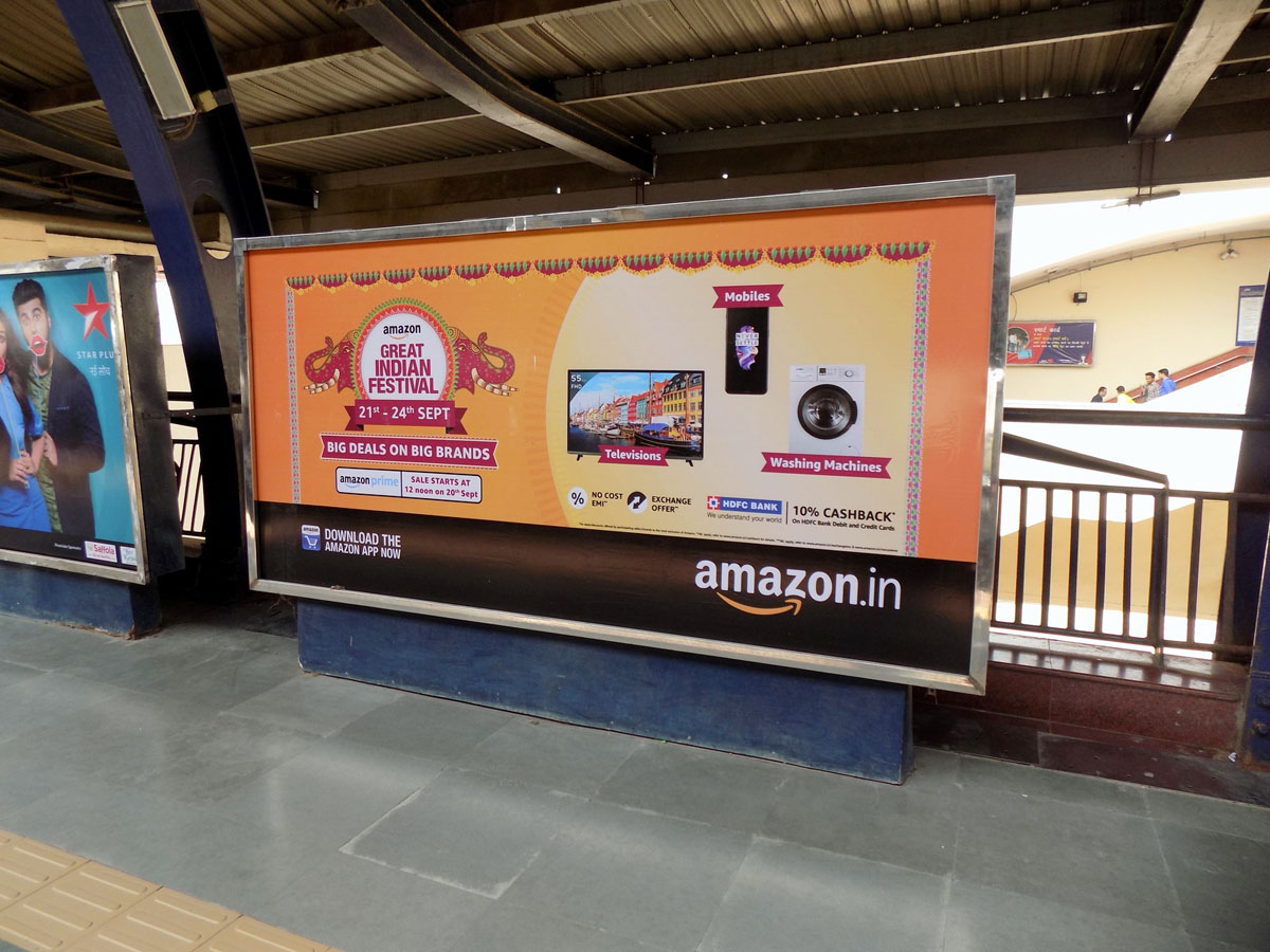 Rajouri Garden - Delhi Metro Advertising